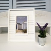 4x6 Wood Panel Photo frame - White