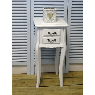 Bedside Table with 2 Drawers Vintage Bedroom Furniture- Carrington Range Carrington
