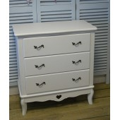Chest of Drawers French Shabby Chic Girls Bedroom Furniture White- Assembled My Sweet Valentine