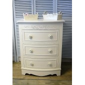 Chest of Drawers Vintage Rose French Shabby Chic Bedroom Furniture Light Cream Cream Vintage Rose