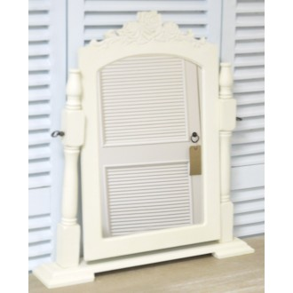 Cream Mirror On Stand/Dressing Table Mirror, Shabby Chic Bedroom Furniture