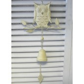 Cream Owl Wind Chime Children's Bedroom, Porch, Conservatory, Hallway