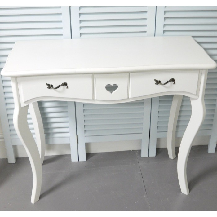 Dressing table with 2 drawers shabby chic bedroom furniture for Vanity dressing table with drawers