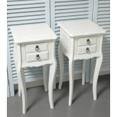 Two x 2 Drawer Bedside Tables/Bedside Cabinets.