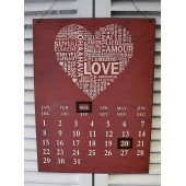 Wall Hanging Decorative Calenders- Love