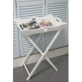 White Butler's Tray/Side Table Shabby Chic Furniture Bedroom Children's Bedroom