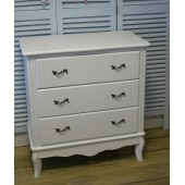 White Chest of Three Drawers Shabby Chic Bedroom Carrington Range Carrington