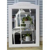 White Vanity Mirror for Make Up Shabby Chic Living Room & Bedroom Furniture