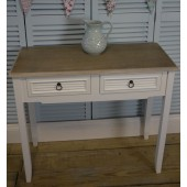 White Vintage Shabby Chic Two Drawer Dressing Table/Hall Table Bedroom Furniture Sets
