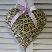 Wicker Heart Wall Hanging
